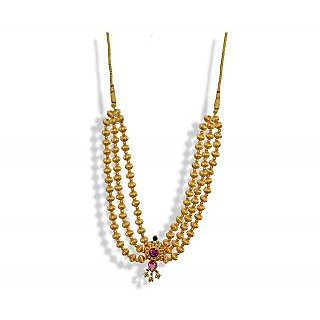 Womens Trendz Center Pandal Jev Mani Haar Necklace