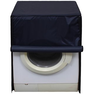 Glassiano Navy Blue Waterproof  Dustproof Washing Machine Cover For Front Load Panasonic NA-106MC1L 6 Kg Washing Machine
