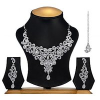 designer rhinestone necklace fenw-09