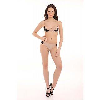 LovinoForm Latest Sexiest Stylist Lylon Skin Bra   Panty Set - 32 Inch 4b7e6c4bc