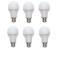 12W White LED Bulbs(Pack Of 6)