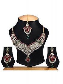 The Pari Non Plated Multicolor Alloy Necklace Set For Women