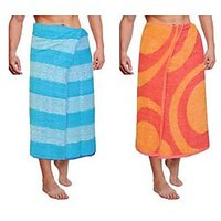 JBG Home Store Combo Of 2 Cotton Bath Towel