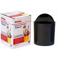 Oddy High Quality Plastic Tumbler - Black (Set Of 2)
