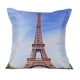 Effel Tower Cushion Covers Digitally Printed-7 Wonder Of The World Series