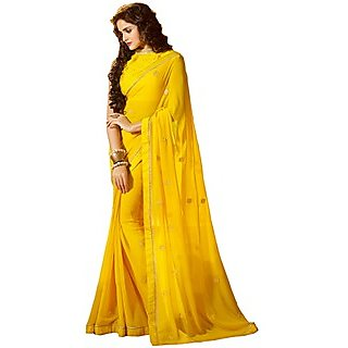 Shilpi Textiles Embroidered And Fashionable Saree With Blouse