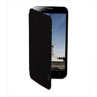 EDGE  PLUS Karbonn Titanium S5 Mobile Flip Cover  Black  available at ShopClues for Rs.389