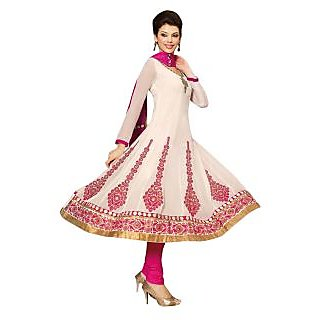 First Loot Beautiful Embroidered Georgette Salwar Kameez