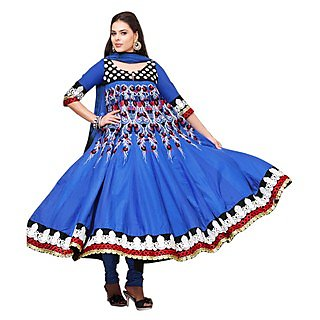 First Loot Bird Feather Motif Embroidered Salwarkameez