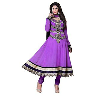 First Loot Aristocratic Embroidered Faux Georgette Anarkali Suit