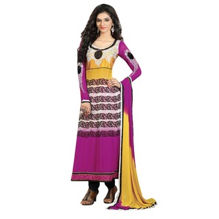 First Loot Charming Embroidered Georgette Salwar Kameez