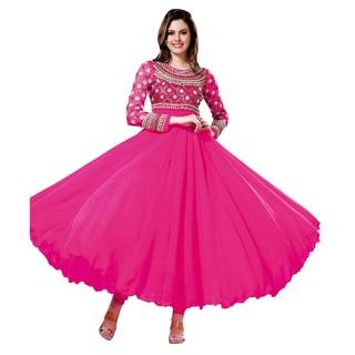 First Loot Stunning Partywear Pink Anarkali Salwar Suit