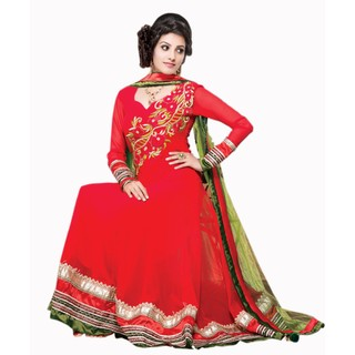 First Loot Fabulous Red Colored Party Wear Salwar Kameez