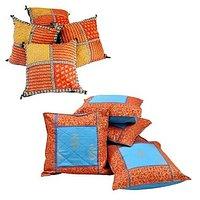 Buy Cushion Covers & Get Bagru Cushion Cover Set Free