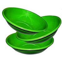 King International- Stainless Steel Serving Bowl Green Color/pasta Bowl/saled Bo