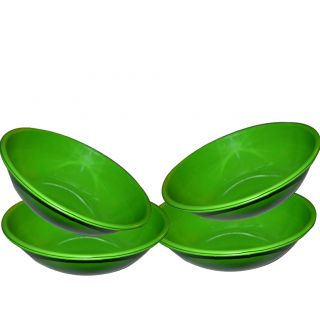 Stainless Steel Serving Bowl Green Color/pasta Bowl/saled Bowl Set Of 4 Pcs