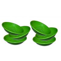 Stainless Steel Serving Bowl Green Color/pasta Bowl/saled Bowl Set Of 6 Pcs