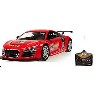 Audi R Remote Control Detailed Rc Car With LED Lights Fast And - Audi remote control car