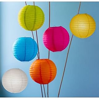 12 inch paper lantern round pack 50 mix color 4 to 5