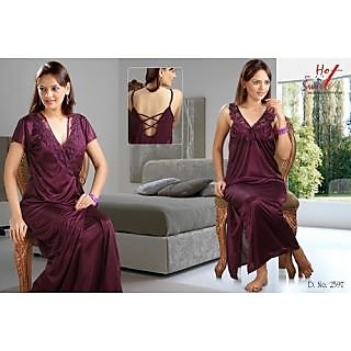 Buy Hot  n  Sweet Sleep Wear two piece Nighty   Jamun Bed Night Set ... 18f984066