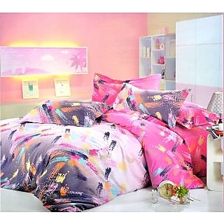 Zaria Rosemary Combo Double Bedsheet - Le-Rm-002 - Le-Rm-004