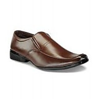 Men's Faux Leather Formal Shoes Brown