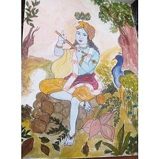 Jai Shree Krishana Oil Painting