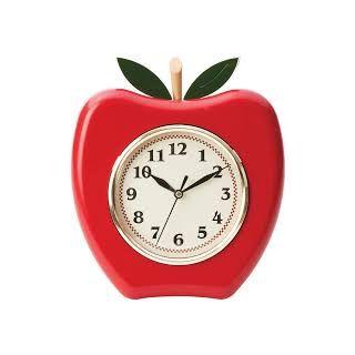 Apple Shape Wall Clocks Red