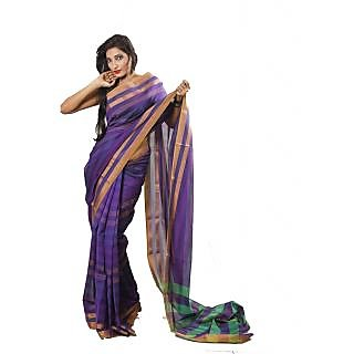 Banarasi Handloom Purple Silk Saree (BS055)