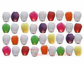 Sky Lantern Pack Of  100, Mix Color