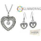 GLIMMERING Heart Set Made With SWAROVSKI ELEMENTS