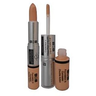 ADS Foundation Daily Care Cream Concealer Double Action For All Skin Types (Set of 1)