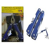9 In 1Micro Pliers ToolKit LED Light Key Chain Knife Tool Kit