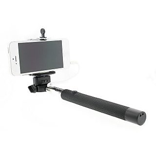 Tarshish's Selfie Stick with Inbuilt Cable (No need of Bluetooth)