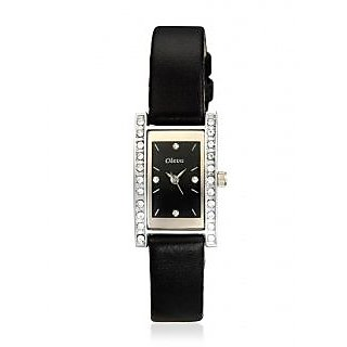Oleva Ladies Leather Watch with Genuine Leather Strap OLW5SB