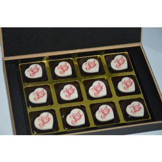 Printed Love Chocolates 12 pieces