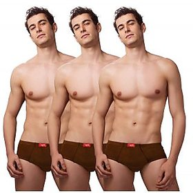 DNG Pack of 3 Mens Brief Hipster