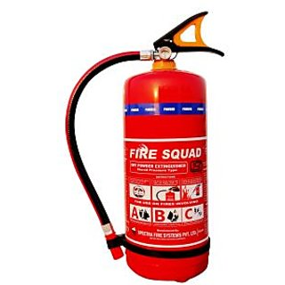 Fire Squad ABC type 4kg Fire Extinguisher for Office and Shops (ISI Marked)