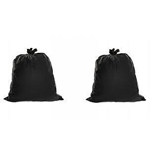 60pcs Disposable Garbage / Dust Bin Bag 19 x 21 - Black