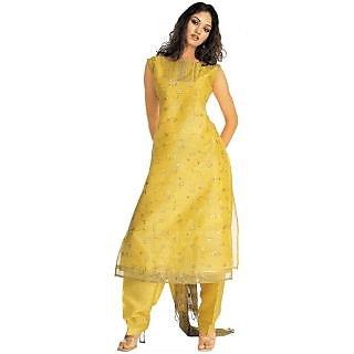 8da06ca0cca2 Ladies Designer Georgette Ready Made Suit Yellow Prices in India ...