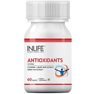 INLIFE Antioxidants, 60 Tablets with Lycopene, Immune Booster Supplement