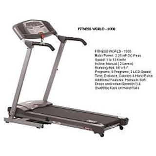 Treadmill Motorized Fitness World 1000