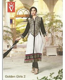 Latest Embroidered Cotton Suit Dress Material (Unstitched)