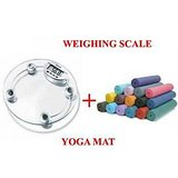 Electronic Weighing Scale + Comfort Yoga Mat.