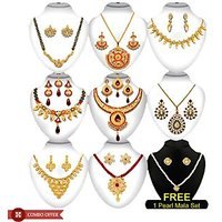The Pari's Gorgeous 9 Pieces Jewellery Set Combo