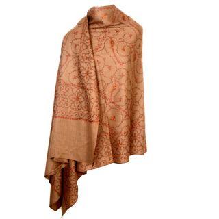 Kashmiri Sozni Work Designer Beige Colour Ladies Shawl