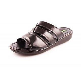 c011827e86c6e0 Guardian Black Genuine Leather Mens Sandals (019 BLACK) Prices in ...