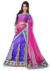 Bhagwati Fashion Holiday2 001 Blue Coloured Embroidered Patch Work Lehenga Choli