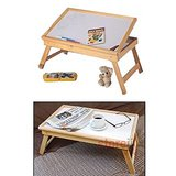 Multipurpose Wooden Foldable E Table, Laptop Table With White Board, Adjustable