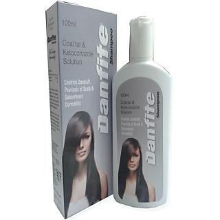 Danfite Scalp Solution 75ml(Coal tar  ketoconazole Scalp Solution)